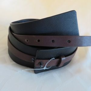 Eileen Fisher Accessories - Eileen Fisher Brown & Black Leather Belt Women's M